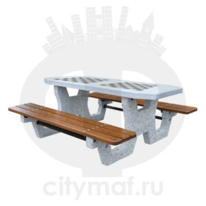 Бетонный шахматный стол 503