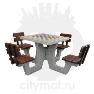 Бетонный шахматный стол 513