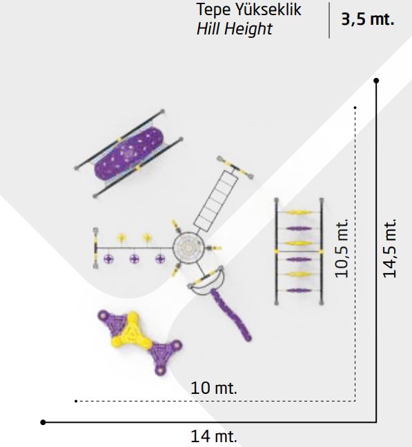 Детский игровой комплекс Динамический DN307