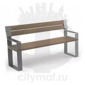 Скамейка с подлокотниками «Идиллия»