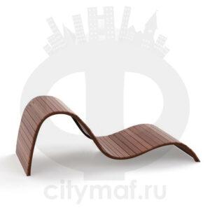 Парковый лежак «Волна»