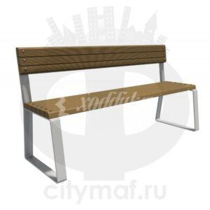 Скамейка с композитным брусом «Колледж»