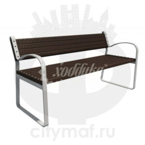 Скамейка с композитным брусом «Лукс»