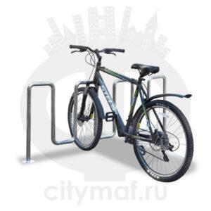 Велопарковка «Квадро» из нержавеющей стали
