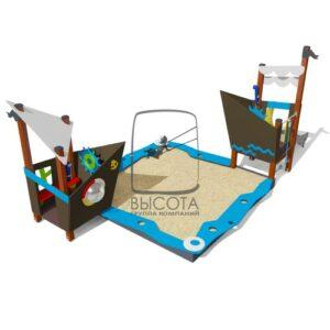 ВСТ 2132 Песочный дворик с горкой