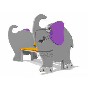 """ВСТ 3292 Скамейка детская """"Слон"""""""