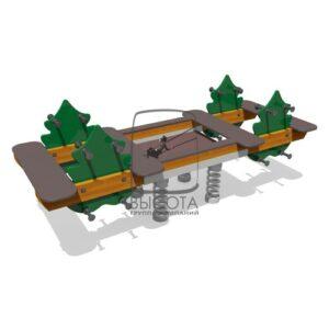 ВСТ 5242 Качалка-балансир 4-х местный