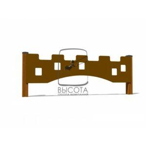 """ВСТ 5294 Ограждение декоративное деревянное """"Крепости"""""""