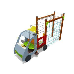 """ВСТ 5622 Игровой макет """"Пожарная машинка"""" с горкой"""
