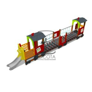 """ВСТ 5627 Игровой макет """"Паровоз с вагонами"""""""