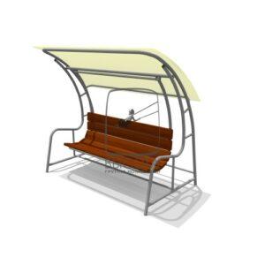 ВСТ 5712 Качели-диван с навесом